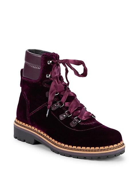 Browan Velvet Combat Boots
