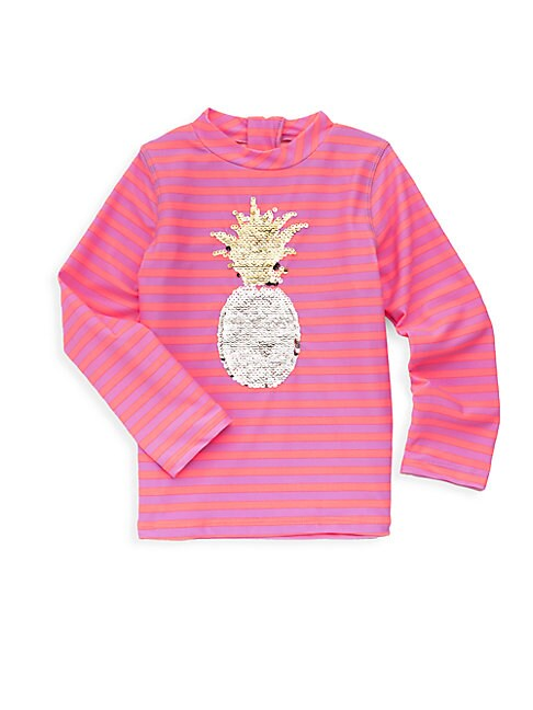 Little Girl's Sequin Pineapple Rash Guard
