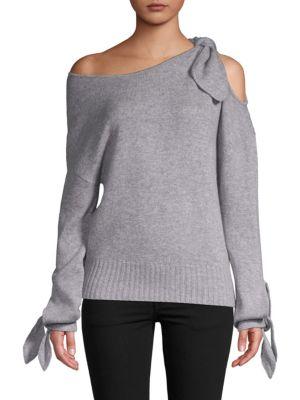 Derek Lam Off-The-Shoulder Cashmere Sweater