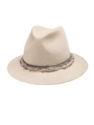 Lola Hats Unibrow Wool & Rabbit Fur Felt Fedora