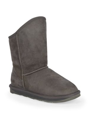 AUSTRALIA LUXE COLLECTIVE Shearling & Suede Short Boots in Grey