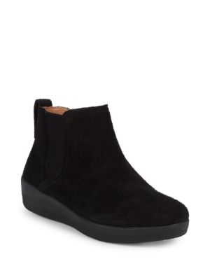 Fitflop Suede Flat Ankle Boots