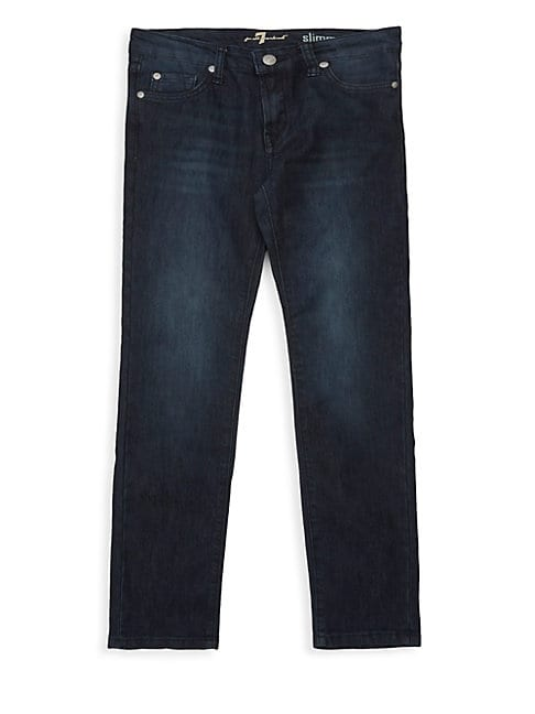 7 FOR ALL MANKIND | Girl's Slim-Fit Jeans | Goxip