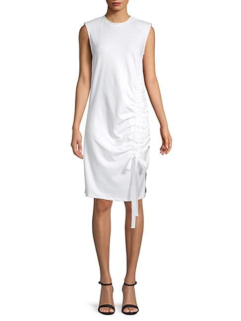 GREY LAB Sleeveless Shift Dress in White