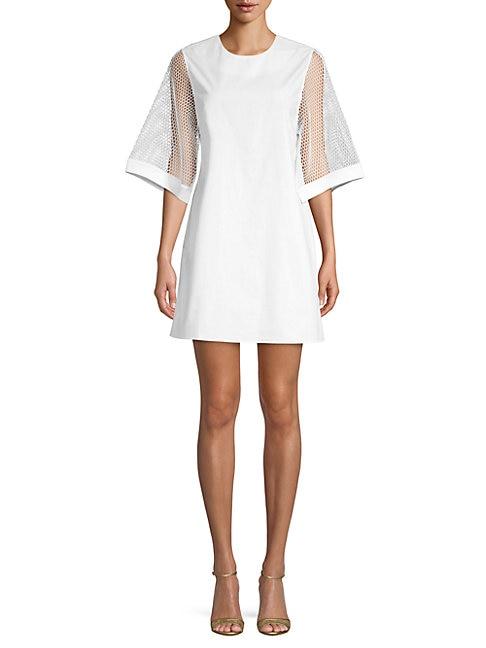 GREY LAB Poplin Cotton Dress in White
