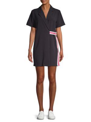 Grey Lab Stretch Wrap Dress