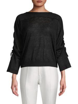 Inhabit Tie-Sleeve Linen Sweater