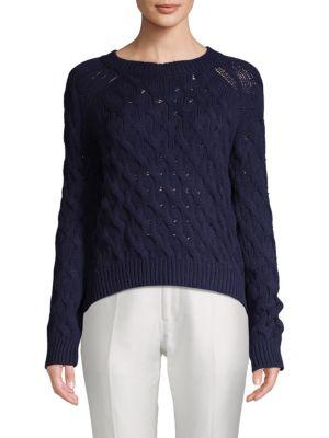 Inhabit Cable-Knit Cotton Sweater