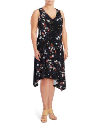 Rachel Roy Plus Printed Sleeveless Dress