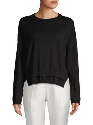 Inhabit Double Hem Cotton Sweater