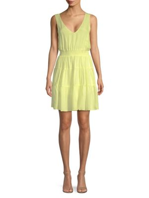 PROSE & POETRY Lidia Silk Dress in Limoncello