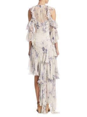 ELIZABETH AND JAMES Silks Ceria Tiered Floral Dress