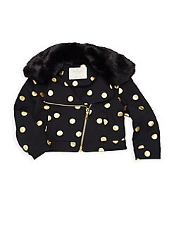 6360087b5bcb QUICK VIEW. Kate Spade New York. Baby Girl's Dotted Faux-Fur Moto Jacket