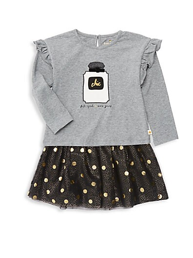d1b2bbed2 Kate Spade New York Baby Girl's Chic 2-Piece Tee & Polka Dot ...