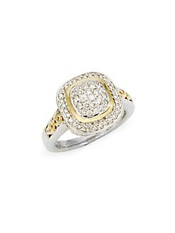 Charles Krypell - Ivy Sterling Silver, 18K Yellow Gold & Diamond Ring