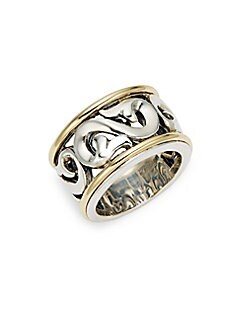 Charles Krypell - Ivy Sterling Silver & 18K Yellow Gold Ring