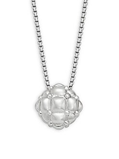 Charles Krypell - Tufted Sterling Silver Beaded Pendant Necklace