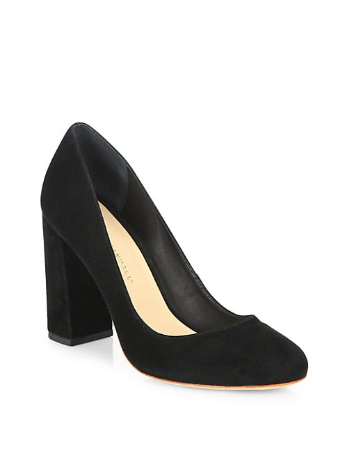 SYDNEE SUEDE BLOCK HEEL PUMPS