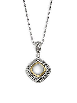 Charles Krypell - Ivy Sterling Silver, 18K Yellow Gold, Mother-Of-Pearl & Diamond Pendant Necklace