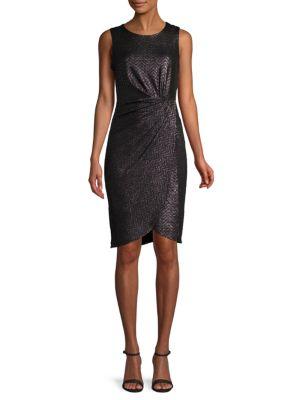 Donna Ricco Side-Twist Sheath Dress