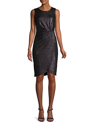 04b0416bb Donna Ricco Side-Twist Sheath Dress ...