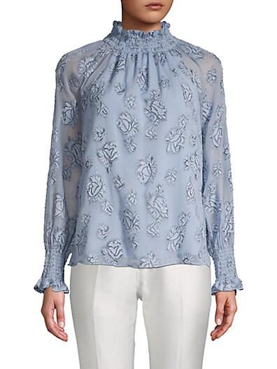 f5489c631bfe9 Rebecca Taylor Floral-Print Raglan-Sleeve Top ...