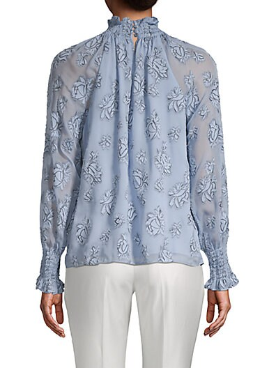 1de84718ab099 ... Rebecca Taylor Floral-Print Raglan-Sleeve Top. QUICKVIEW