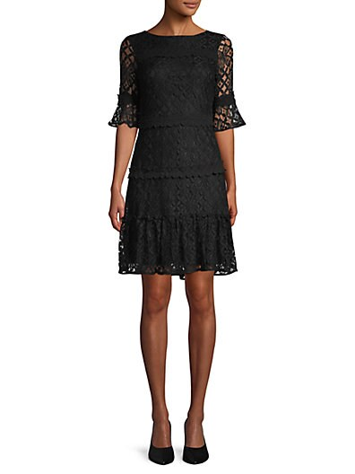 b6f8ac1a8fcfb6 julia jordan Lace A-Line Dress ...