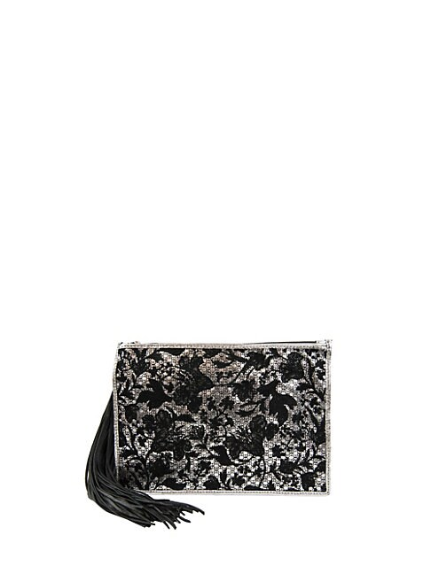 ALIA EMBROIDERED CLUTCH