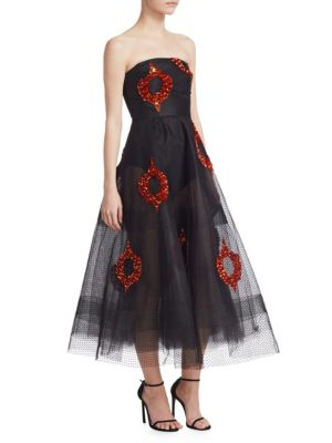 Sachin & Babi Bazaar Embellished A-Line Dress