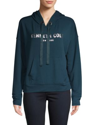 Kenneth Cole Cropped Logo Hoodie