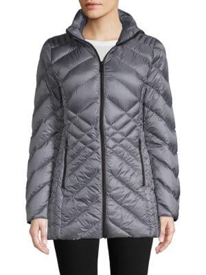 Saks Fifth Avenue Hooded Packable Jacket
