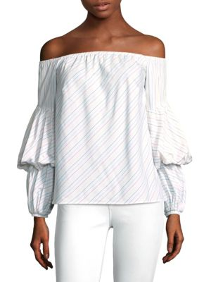 Petersyn Off-The-Shoulder Cotton Top