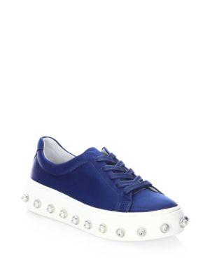 Alexandre Birman Lumara Satin Sneakers