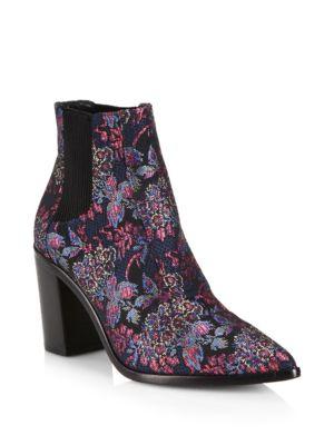 Alexandre Birman Printed Block Heel Booties