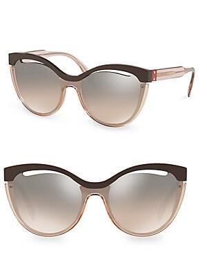 a0009a363a2e Miu Miu - 52MM Semi-Rimless Acetate   Metal Square Sunglasses ...