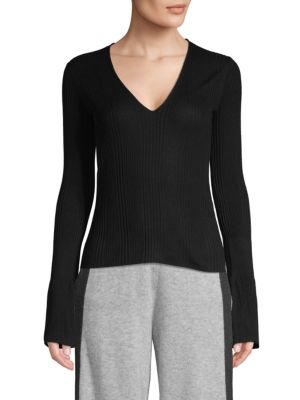 Naadam Tops V-Neck Silk & Cashmere Pullover
