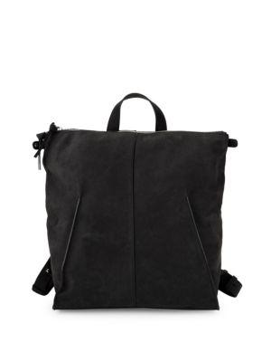 Steven Alan Leather Zip Backpack