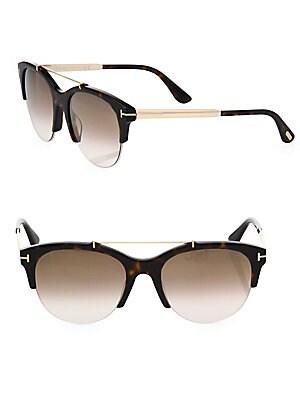 721375686aec9 Tom Ford - Adrenne 55MM Mirrored Round Sunglasses - saksoff5th.com