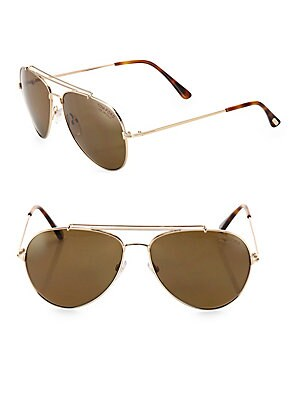 3b5abec04e5 Tom Ford - Indiana 58MM Polarized Aviator Sunglasses - saksoff5th.com
