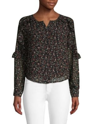 LUCCA COUTURE Floral Button-Down Shirt in Woodland