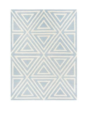 Triangles Hand Tufted Square Wool Area
