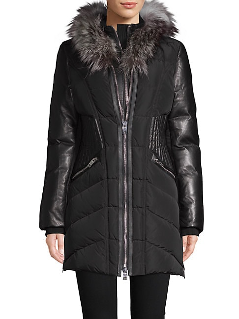 Courchevel Fox Fur-Trimmed Down Jacket