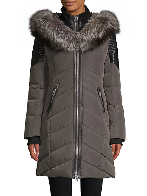 Cortina Fox Fur-Trimmed Down Jacket