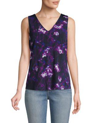 Donna Karan V-neck Printed Top