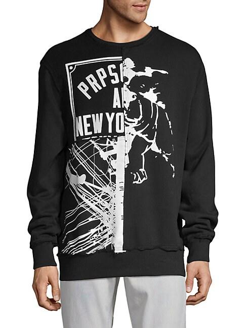 PRPS   Potsherds Plover Graphic Sweatshirt   Goxip