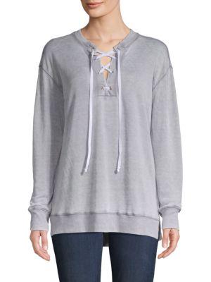 Allen Allen Lace-Up Sweatshirt