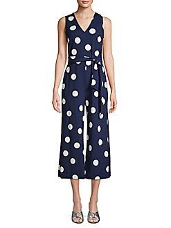 4d332a18cd QUICK VIEW. Karl Lagerfeld Paris. Self-Tie Polka Dot Jumpsuit