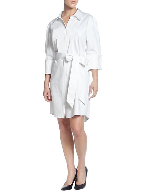 CATHERINE CATHERINE MALANDRINO   Wide-Shoulder Shirtdress   Goxip