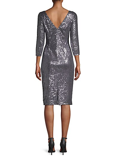 d309c5c0ee ... Adrianna Papell Sequined Knee-Length Dress